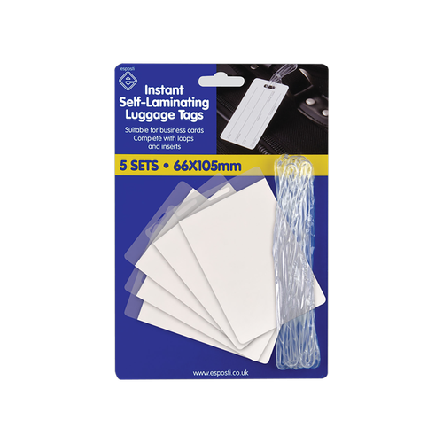 AO01 - Self Laminating Luggage Tags Pack 5's Image