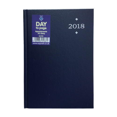 EL2418 - 2018 A5 DTP Appointments Diary Image
