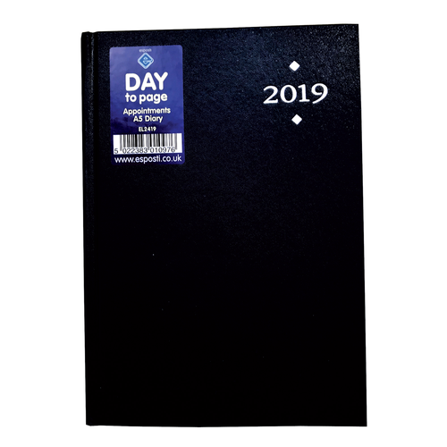 EL2419 - A5 Day To Page 2019 Appointments Diary Image