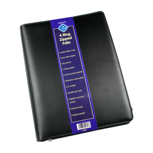 EL776 - 4 Ring Zipped Folder Image