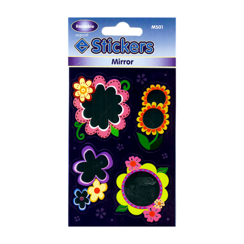MS01 - Mirror Sticker Flowers Image