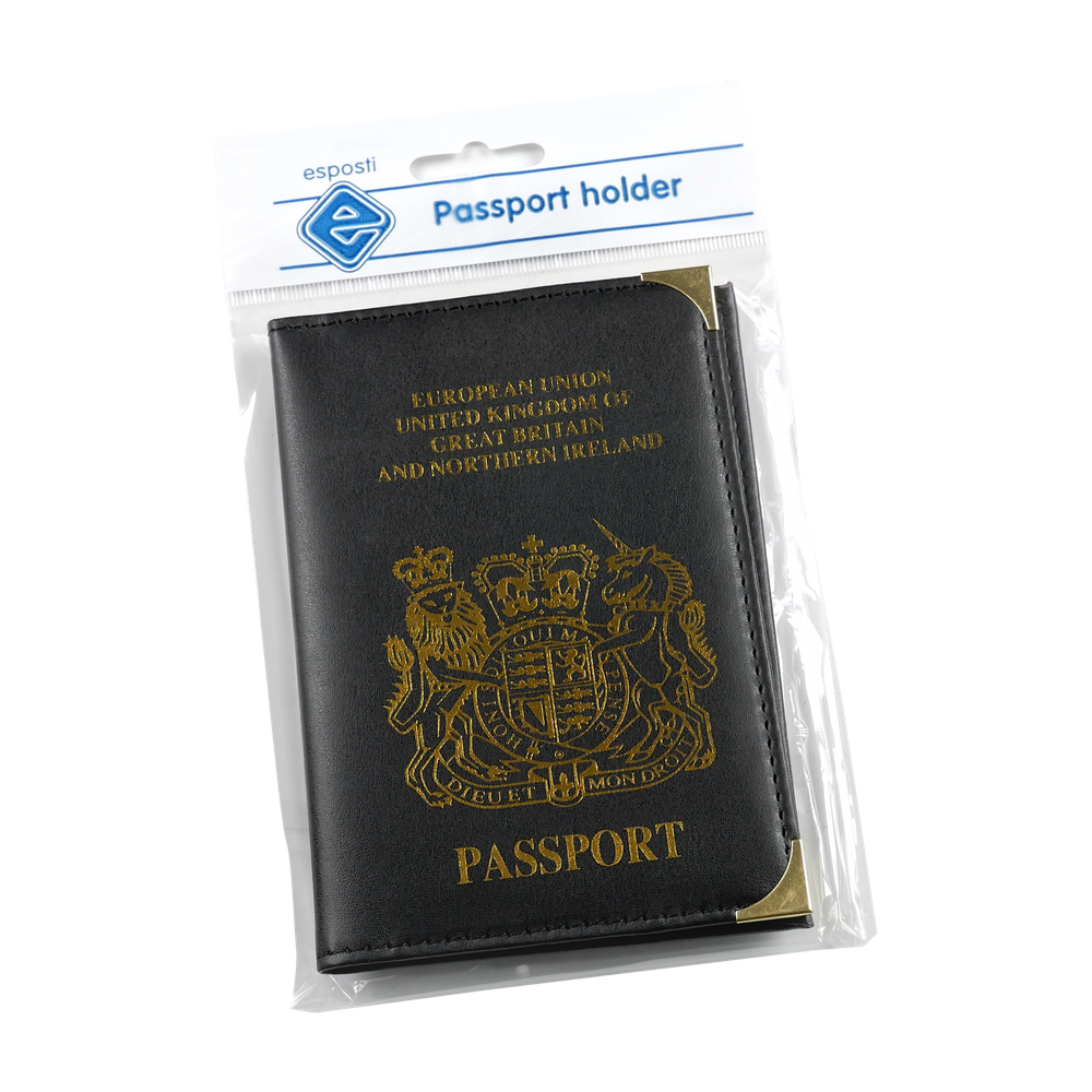 EL114 Passport Holder with Crest Image
