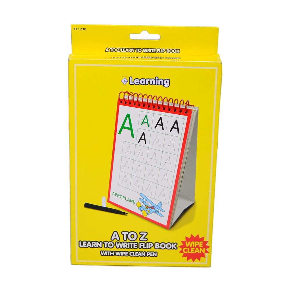 EL1230 A - Z Learn To Write Flip Book Image