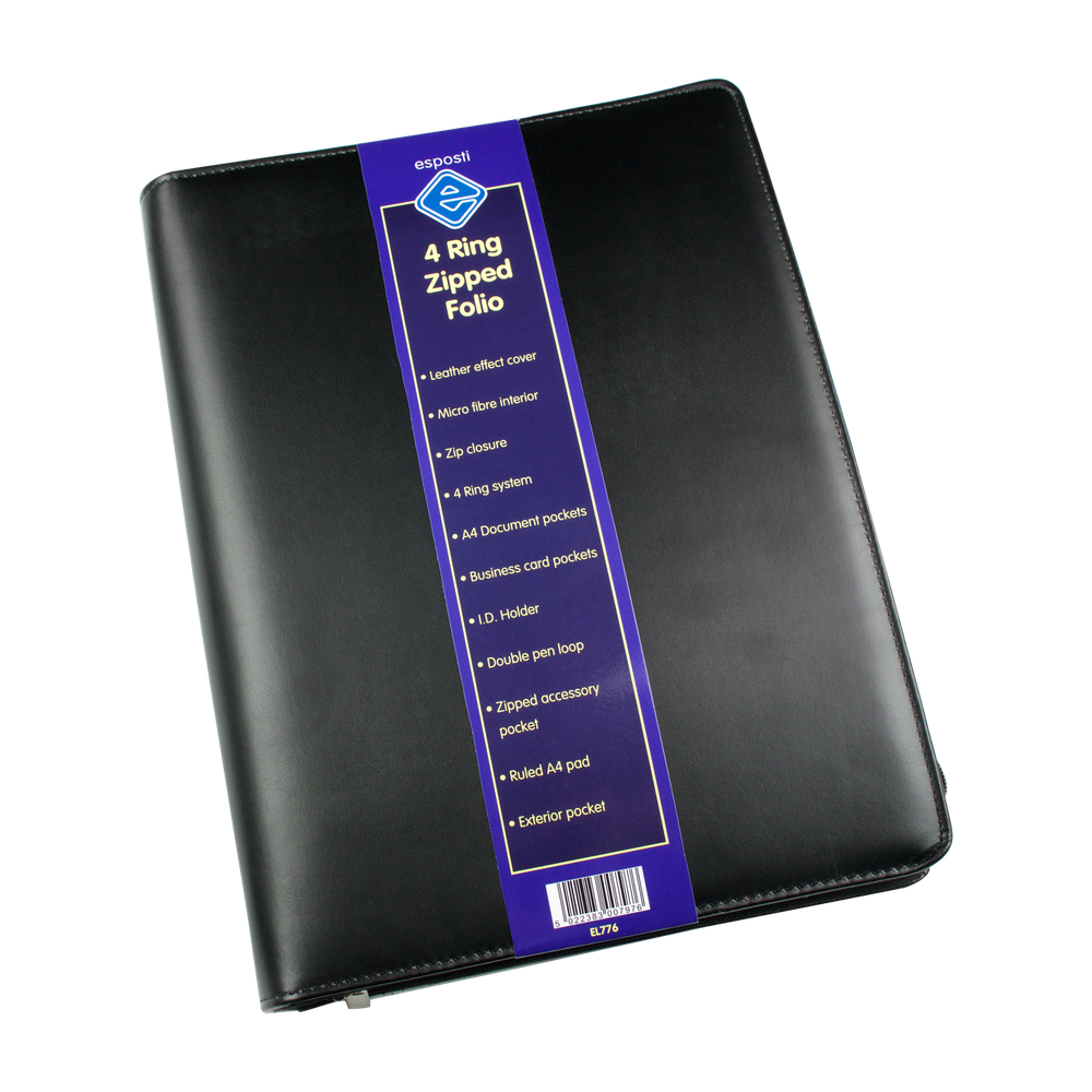 EL776 4 Ring Zipped Folder Image